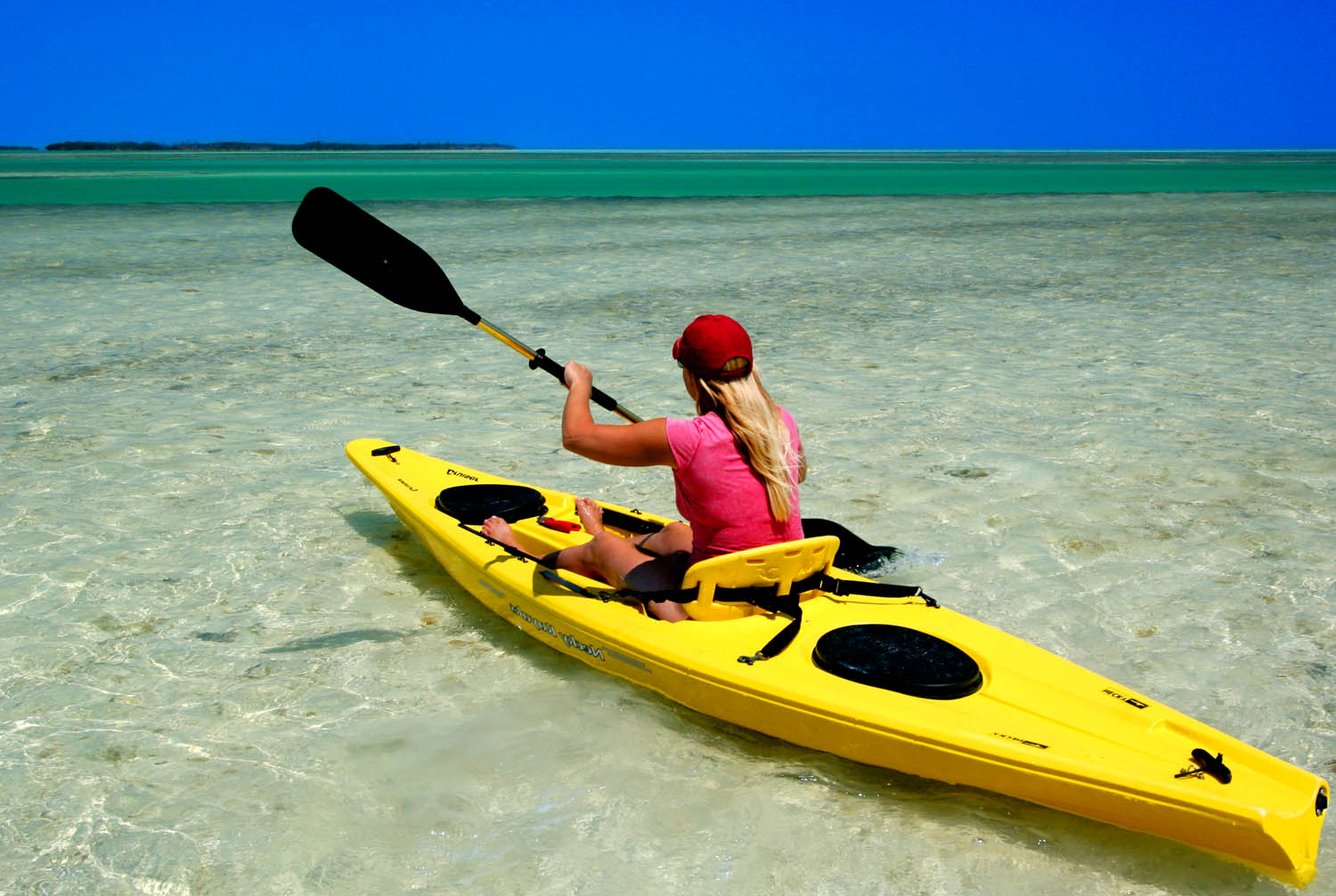 Kayaker in Gulf of Mexico